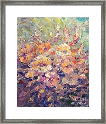 Framed Print featuring the painting Flying Glory by Tatiana Iliina