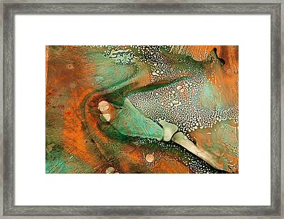 Flying Insect Framed Print by S Josephine  Weaver