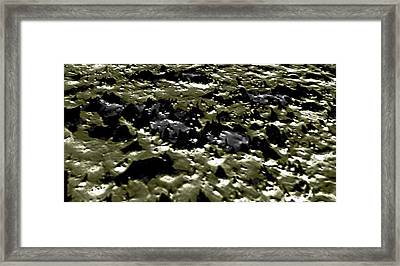 Flying Into Hale Crater Framed Print by Freyk John Geeris