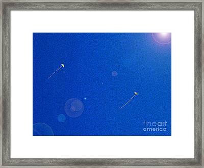 Flying Kites  Framed Print