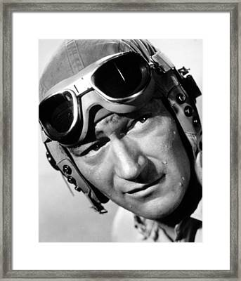 Flying Leathernecks, John Wayne, 1951 Framed Print by Everett
