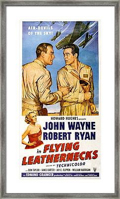 Flying Leathernecks, John Wayne, Robert Framed Print by Everett