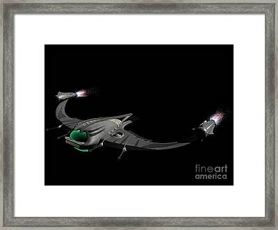 Flying Machine Inspired By The Martians Framed Print by Rhys Taylor