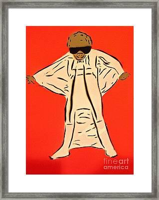 Flying Mole Suit Framed Print by Tom Evans
