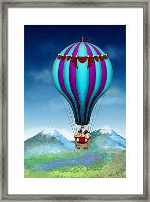 Flying Pig - Balloon - Up Up And Away Framed Print by Mike Savad