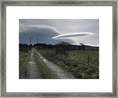 Flying Saucer Cloud Framed Print