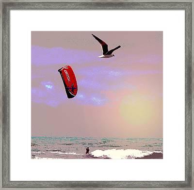 Flying Sunset Framed Print