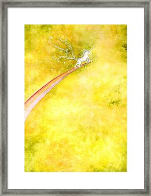 Flying Unicorn Framed Print by Asida Cheng