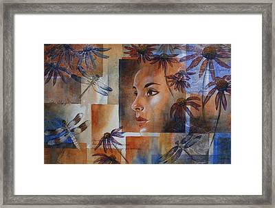 Flying Woman Framed Print