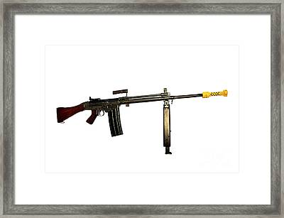 Fn Fal 7.62mm L2a1 Automatic Rifle Framed Print by Andrew Chittock