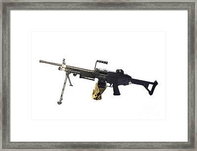 Fn Minimi 5.56mm Light Machine Gun Framed Print by Andrew Chittock