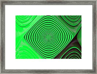 Focus On Green Framed Print by Carolyn Marshall