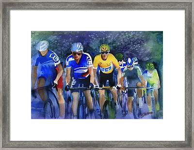 Focus On Yellow Framed Print by Shirley  Peters
