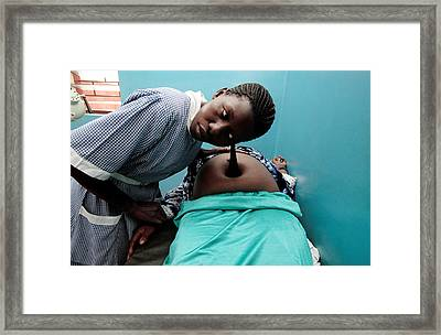 Foetal Monitoring Framed Print