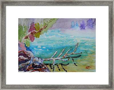 Fog And Reflection Duality 2 Framed Print by Warren Thompson