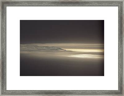 Fog And Sunlight Over Polar Framed Print by Gordon Wiltsie