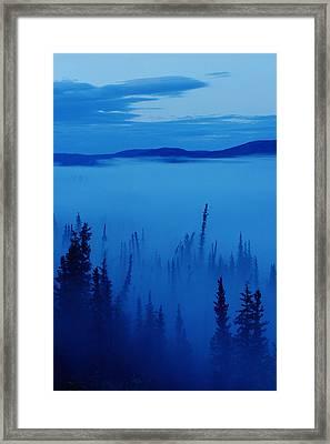Fog At Dawn, Stewart Crossing, Yukon Framed Print