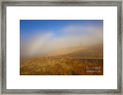 Fog Bow At Lookout Point Framed Print by Mike  Dawson
