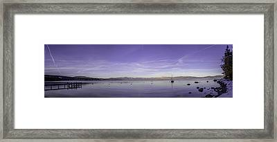 Fog In The Distance Framed Print by Brad Scott
