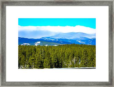 Framed Print featuring the photograph Fog In The Rockies by Shannon Harrington