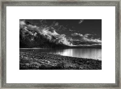 Fog Lifting  Framed Print