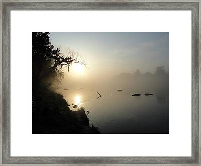 Fog On The White River Framed Print by Heather Owen
