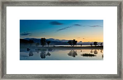 Fog Over The Pond IIi Framed Print