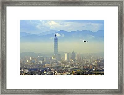 Fog Taipei 101 Framed Print