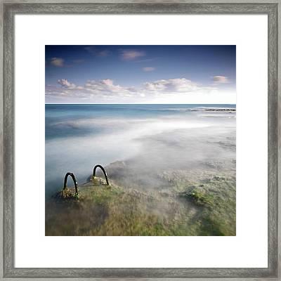 Fogging Landscape Framed Print by Tpenalver