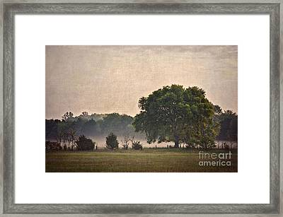 Framed Print featuring the photograph Foggy Country Morning by Cheryl Davis