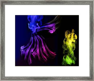 Foggy Dance Framed Print