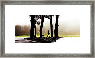 Foggy Day To Walk The Dog Framed Print by Harry Neelam