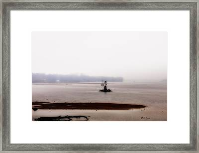 Foggy Delaware River Framed Print by Bill Cannon
