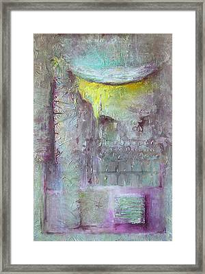Framed Print featuring the painting Foggy Land by Lolita Bronzini