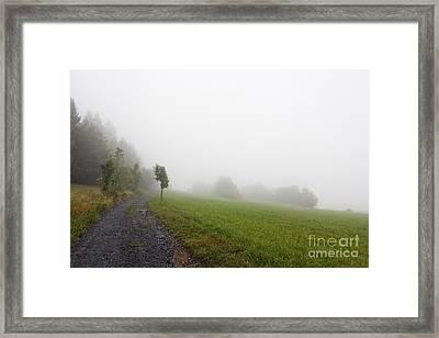 Foggy Landscape Framed Print by Michal Boubin