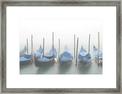 Foggy Morning Grand Canal Framed Print by Tom and Pat Cory