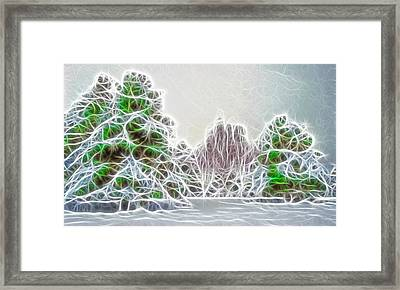 Foggy Morning Landscape 17 - Fractal Abstract Framed Print by Steve Ohlsen