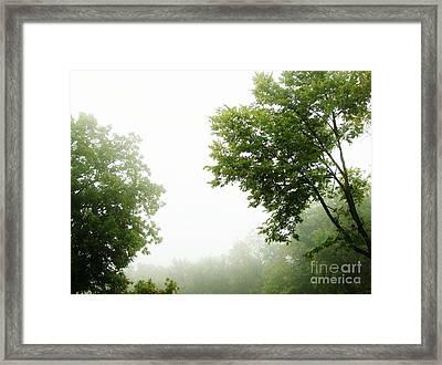 Foggy Morning Framed Print by Marsha Heiken