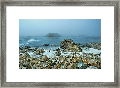 Framed Print featuring the photograph Foggy Morning On The Coast by Renee Hardison