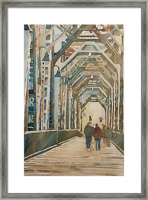 Foggy Morning On The Railway Bridge One Framed Print