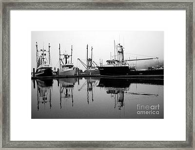 Foggy Reflections Bw Framed Print by Kami McKeon