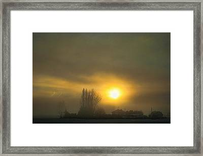 Foggy Sunrise Framed Print by Charlie Duncan