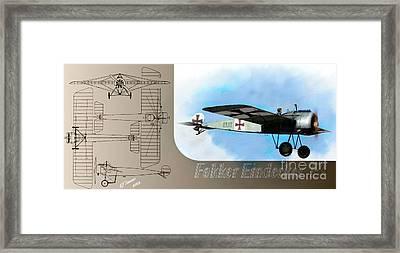 Fokker Eindecker Eiii Framed Print by Arne Hansen