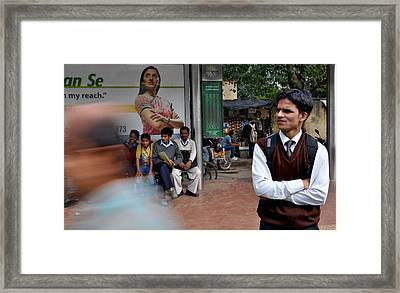 Foldedhands Framed Print