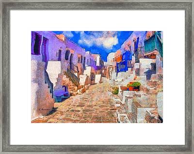 Folegandros Framed Print by George Rossidis