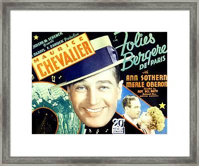 Folies Bergere De Paris, Aka Folies Framed Print by Everett