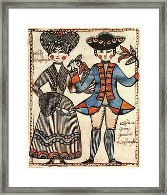 Folk Art: Washingtons Framed Print by Granger
