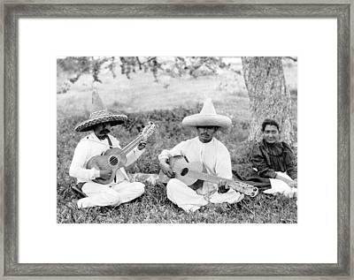 Folk Music. Musical Picnic, Photo Framed Print by Everett