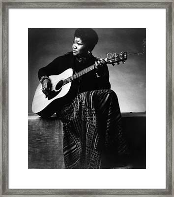 Folk Singer Odetta, C. 1960s Framed Print by Everett