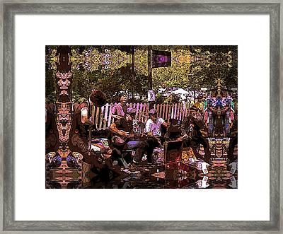 Folklife Buskers Framed Print by Tim Allen